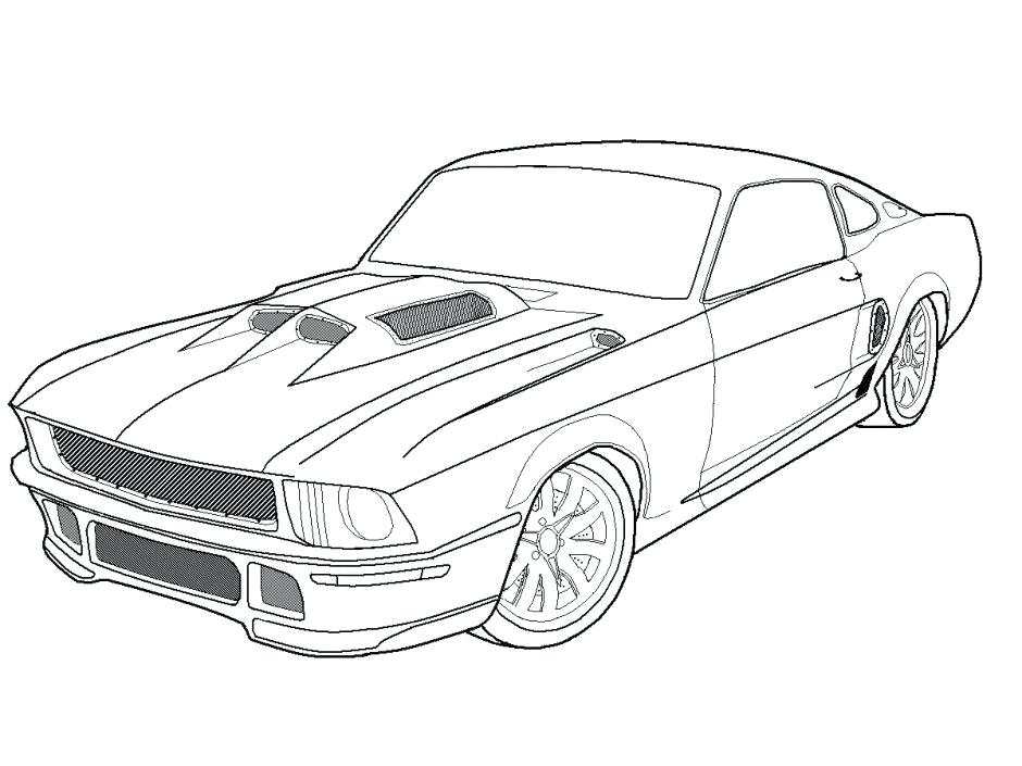 940x705 Classic Car Coloring Pages Printable