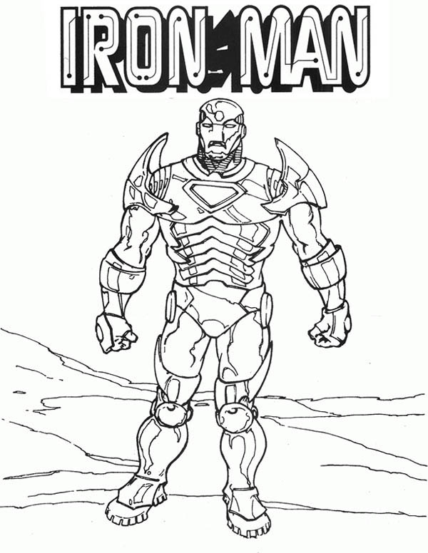 600x776 Classic Iron Man Coloring Page