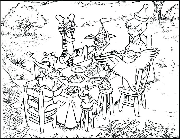 700x542 Coloring Pages Party The Pooh Coloring Pages Classic The Pooh