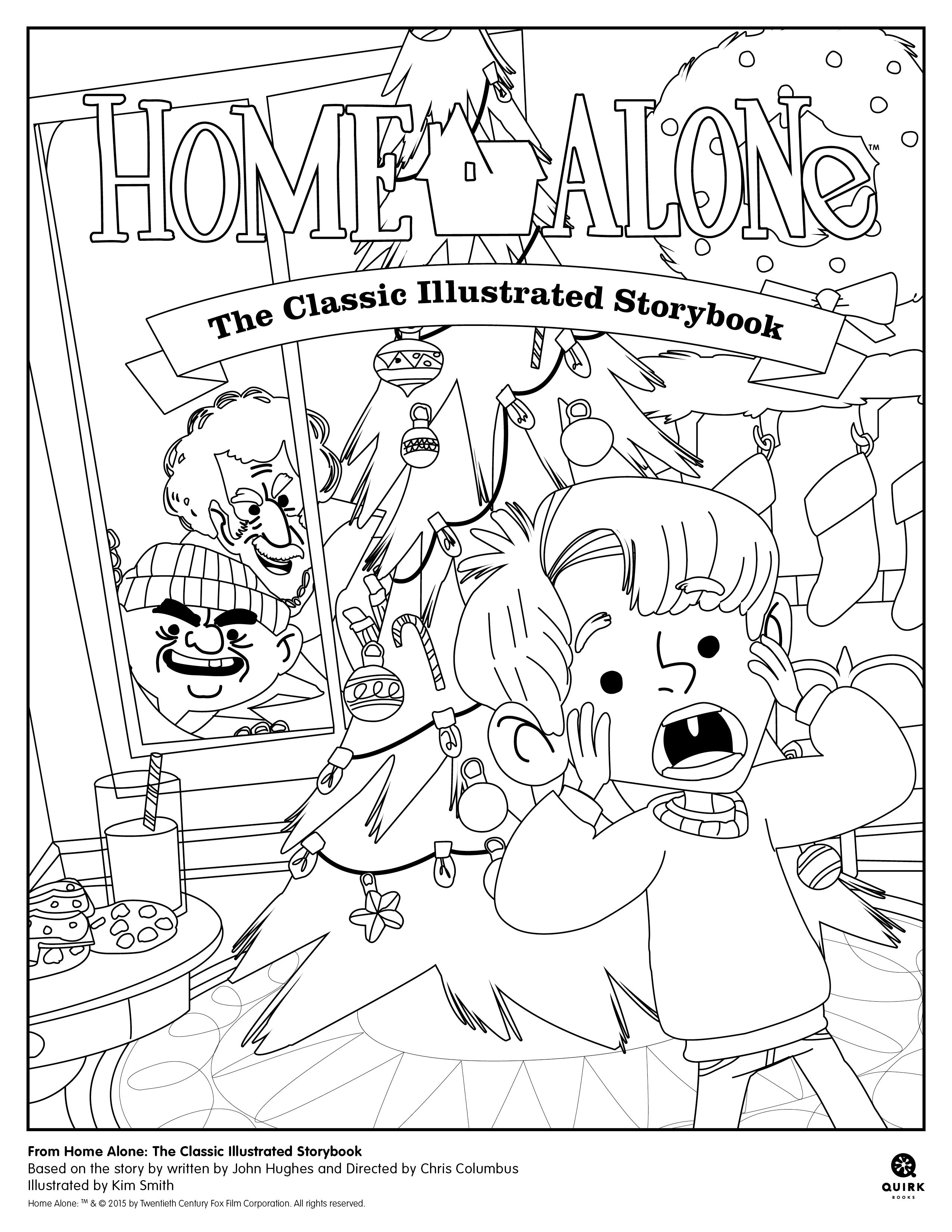 2550x3300 Coloring Page From Home Alone The Classic Illustrated Storybook