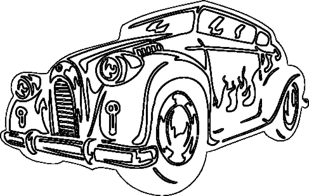1000x634 Classic Car Coloring Pages