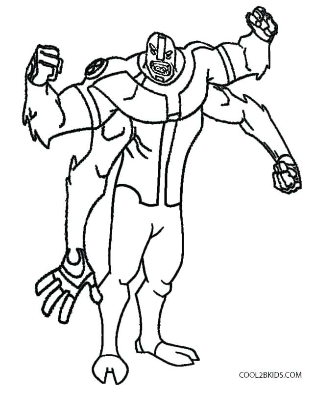643x800 Ben Omniverse Coloring Pages Printable Classic Coloring Pages