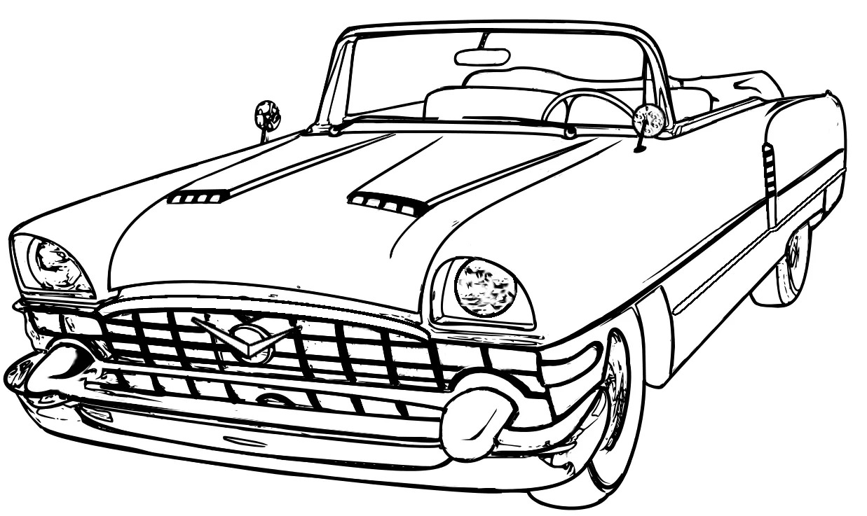 1237x737 Muscle Car Coloring Pages