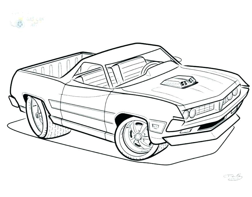 878x689 Muscle Car Coloring Pages Also Muscle Car Collector Cars Coloring