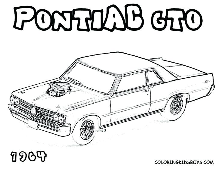 Classic Muscle Car Coloring Pages At Getdrawings Free Download