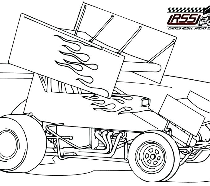 678x600 Sprint Car Coloring Pages Classic Car Coloring Pages Classic
