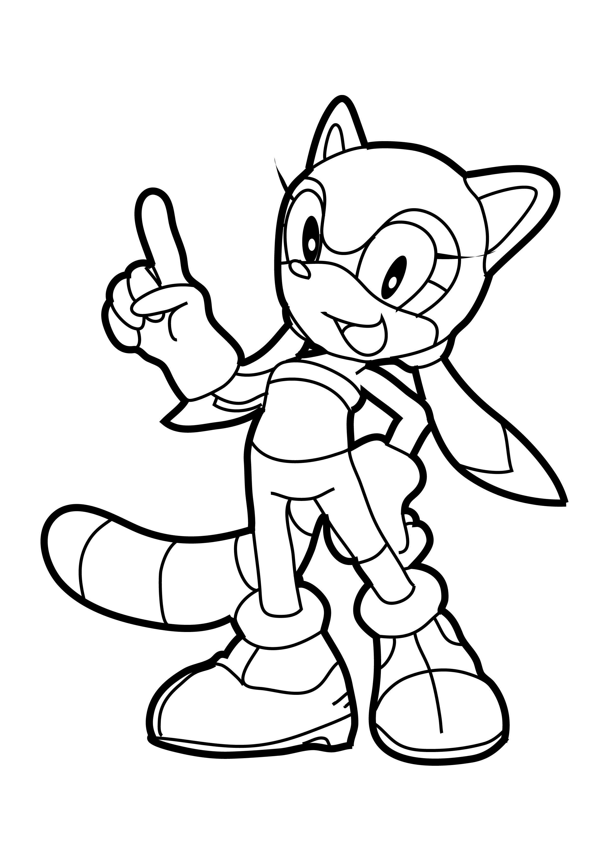 2480x3508 Sonic Coloring Pages Page