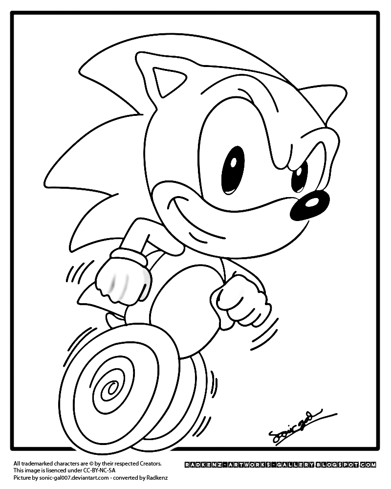 800x1000 Sonic The Hedgehog Running Coloring Pages