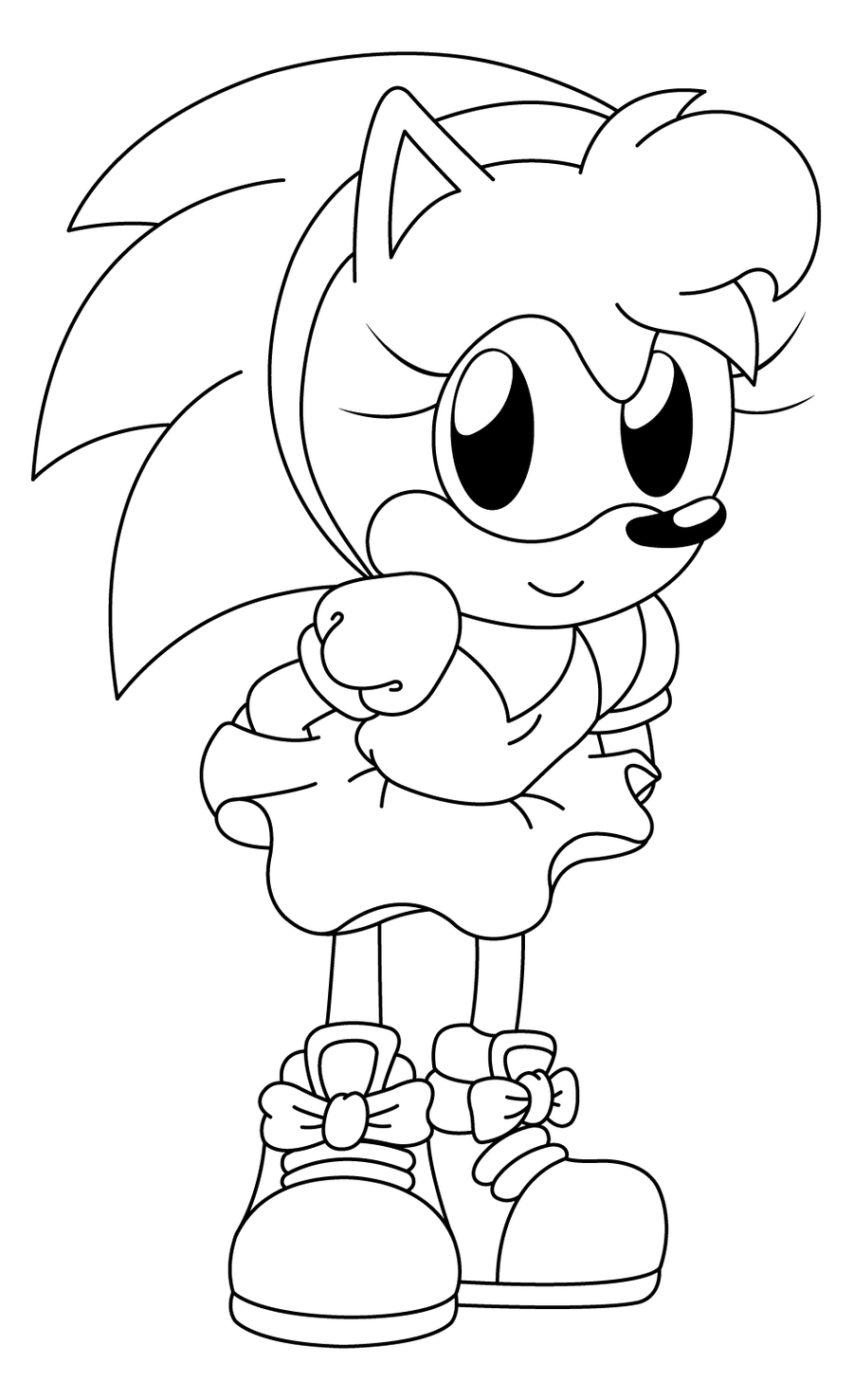 900x1477 The Awesome Sonic Coloring Pages