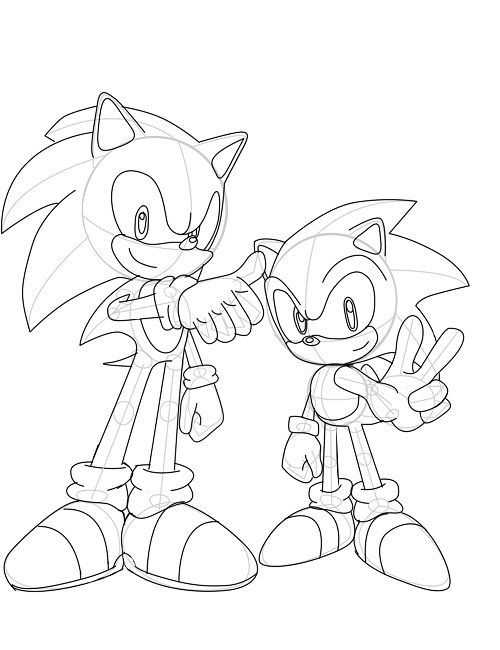 500x650 Sonic Generations Coloring Pages Cartoon Sonic