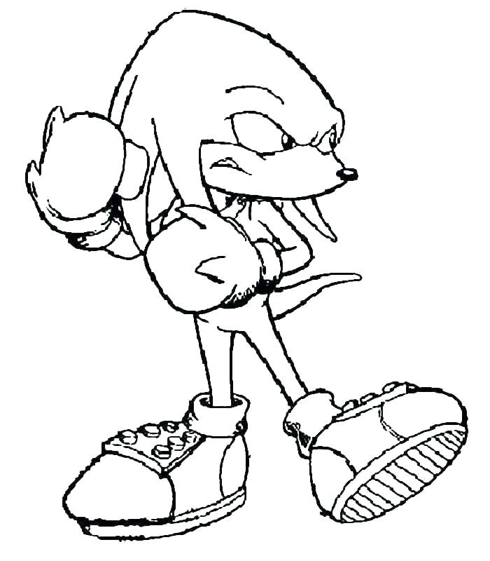 700x800 Sonic Hedgehog Coloring Pages