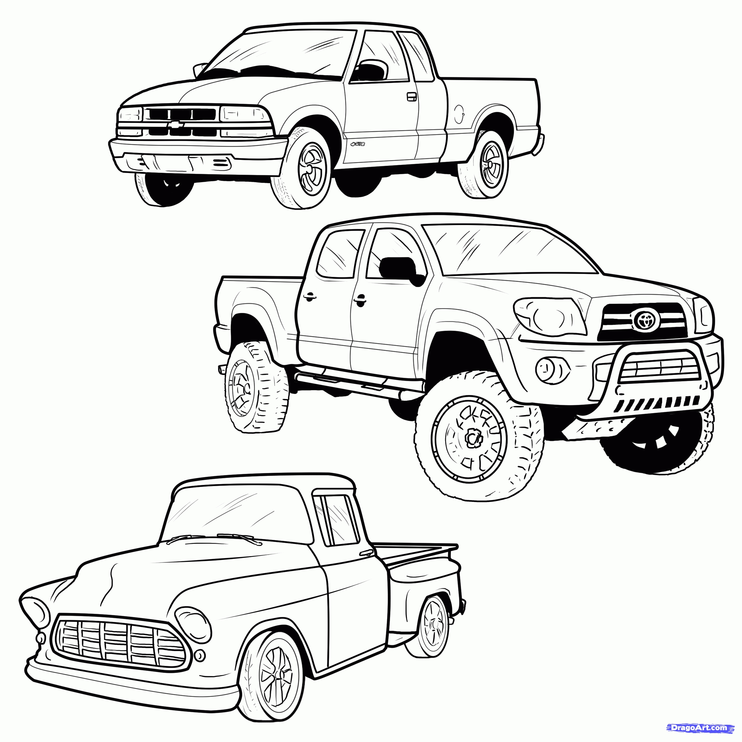 2550x2550 Fresh Pickup Trucks Coloring Pages Collection Printable Coloring