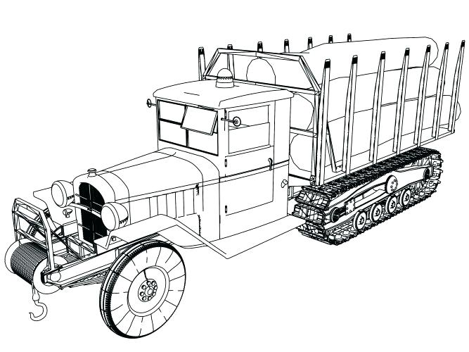 667x500 Old Truck Coloring Pages Medium Size Of Trucks Coloring Pages