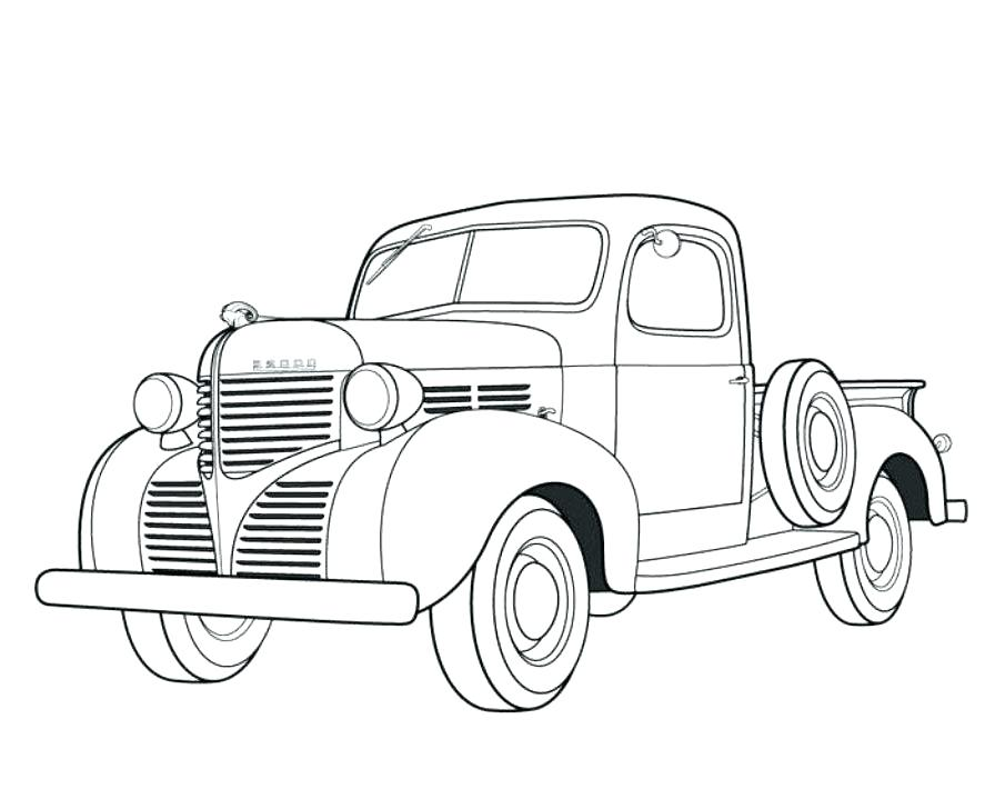 905x719 Old Truck Coloring Pages Old Truck Coloring Pages Old Truck