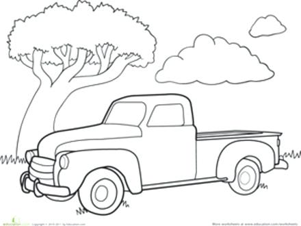 440x330 Old Truck Coloring Sheets