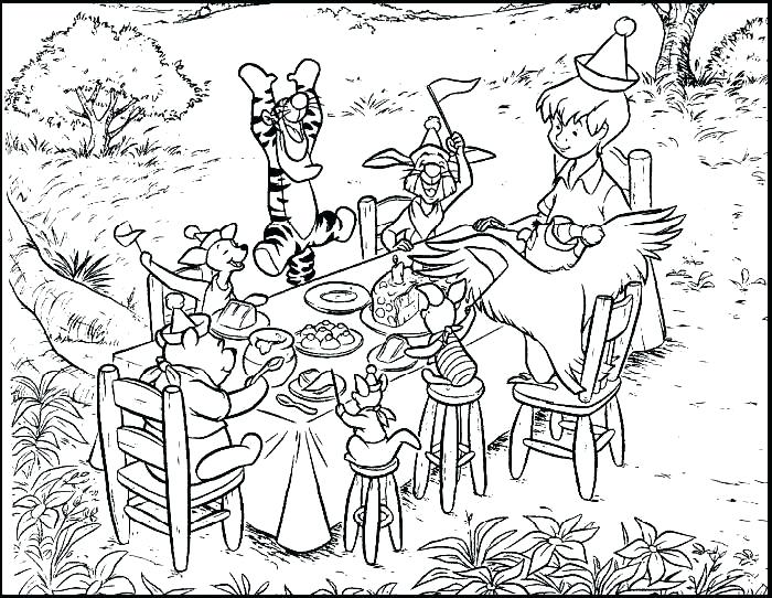 700x542 Classic Winnie The Pooh Coloring Pages Printable The Pooh Coloring