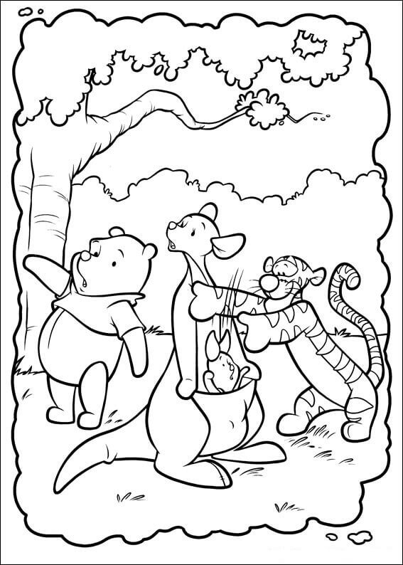 567x794 Free Printable Winnie The Pooh Coloring Pages