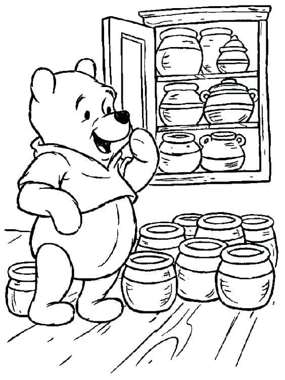 564x751 Winnie The Pooh Coloring Page Classic The Pooh Coloring Page Baby