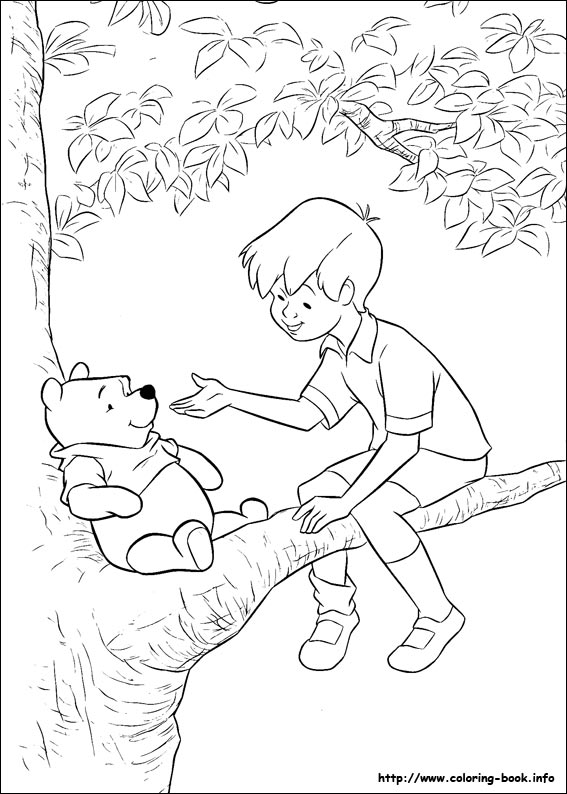Classic Winnie The Pooh Coloring Pages At Getdrawings Com Free For