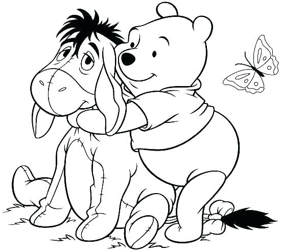 550x490 Classic Winnie The Pooh Coloring Pages Professional