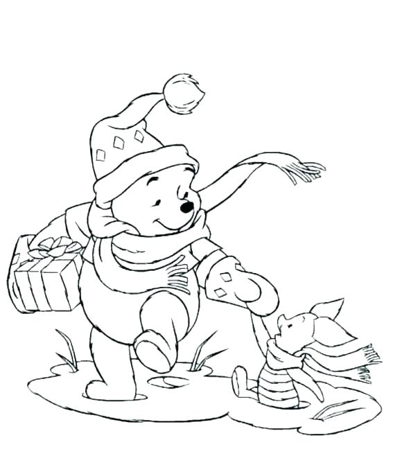 580x671 Winnie The Pooh Characters Coloring Pages