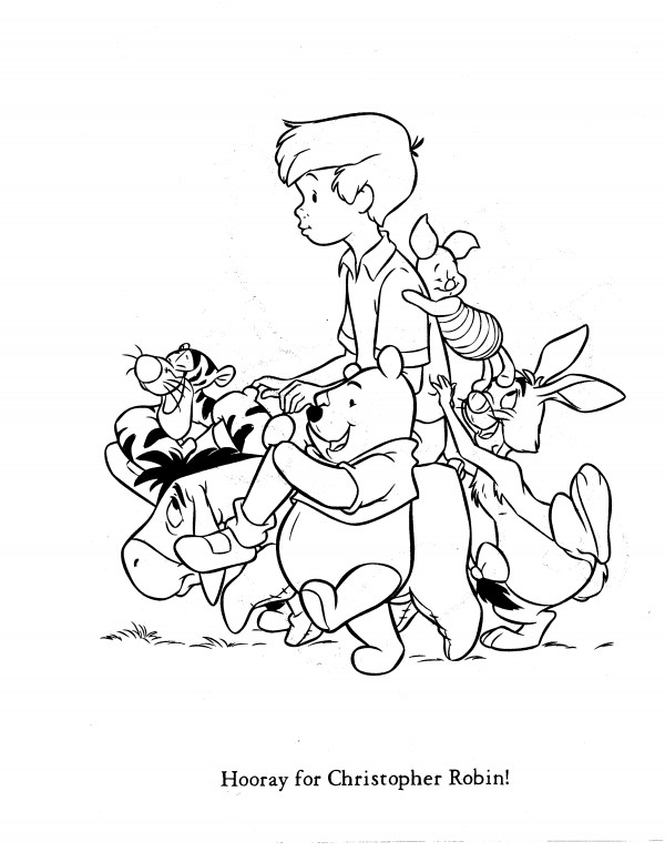 600x777 Christopher Robin Coloring Pages