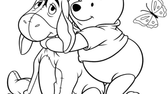 585x329 Classic Pooh Coloring Pages Winnie The Avayehasti Classic Winnie