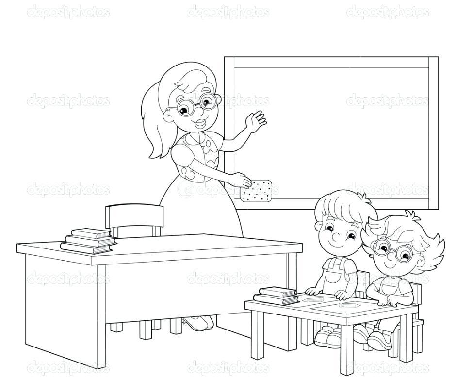 940x783 Classroom Coloring Page Classroom Coloring Pages Sketch Coloring