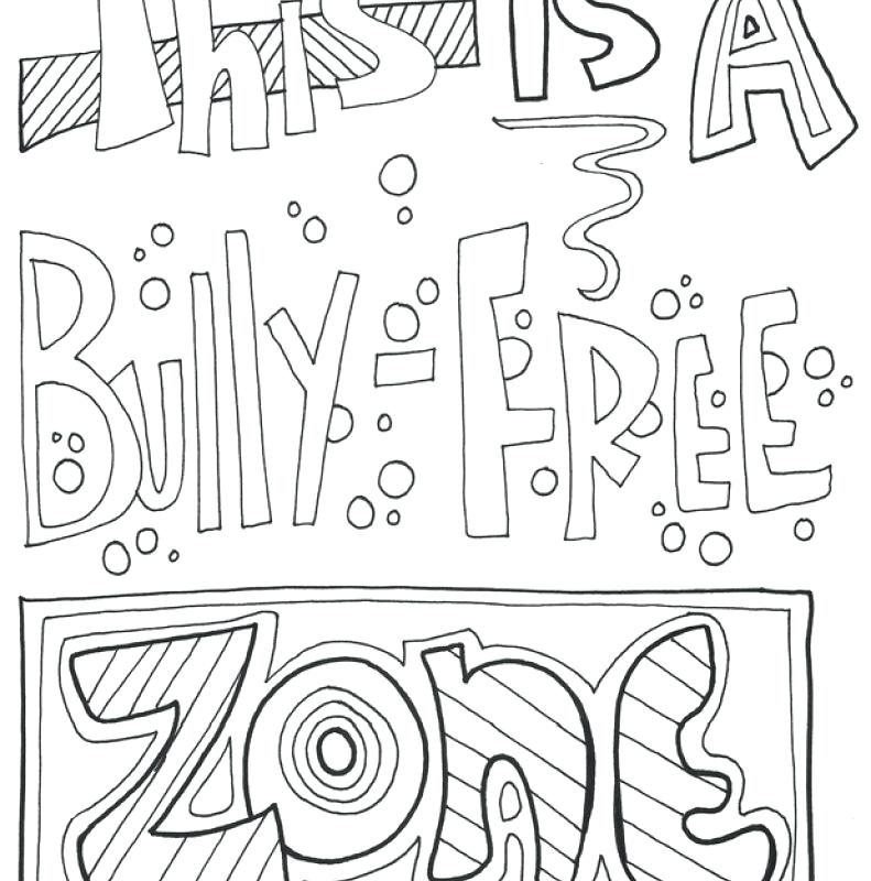 791x800 Classroom Coloring Pages No Bullying Coloring Pages Classroom