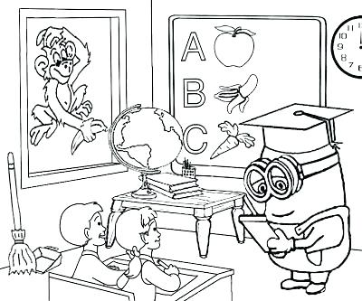 400x333 Classroom Objects Coloring Pages Classroom Coloring Pages Art