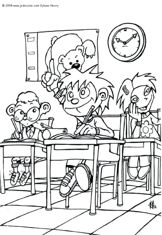 The Best Free Classroom Coloring Page Images Download From 50 Free