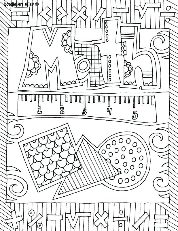 618x800 Classroom Coloring Pages Subject Cover Pages Coloring Pages