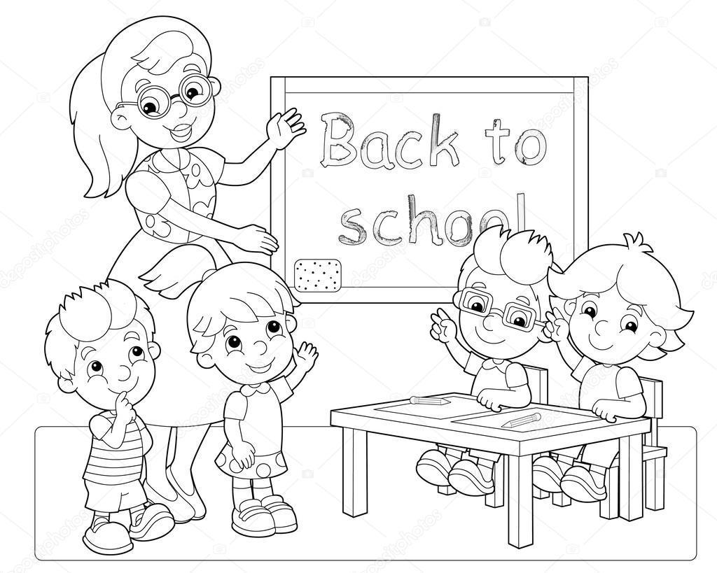1024x819 Best Classroom Coloring Page Image Ways To Use Pict Of Rules