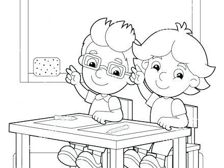 440x330 School Objects Coloring Pages Classroom Rules Coloring Page Twisty