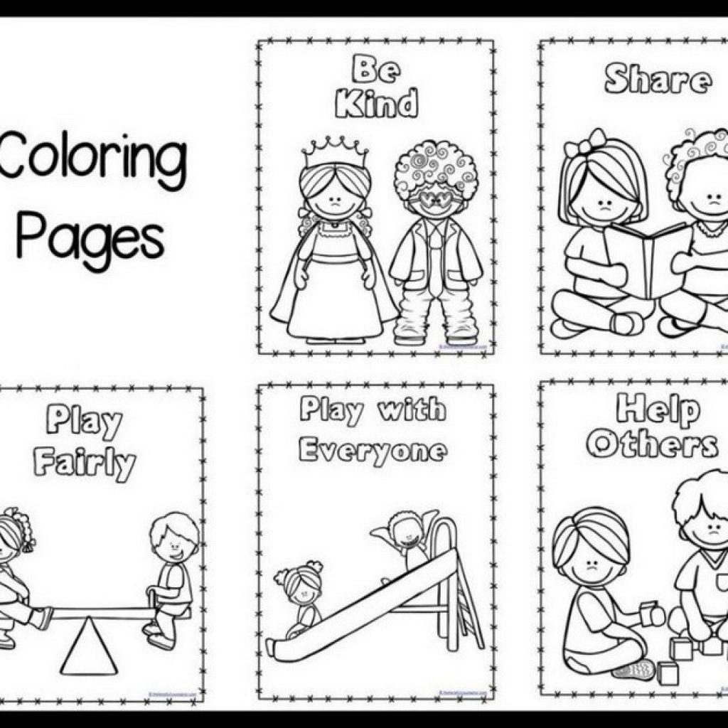 1024x1024 Classroom Rules Coloring Pages Download Arilitv Kids Free