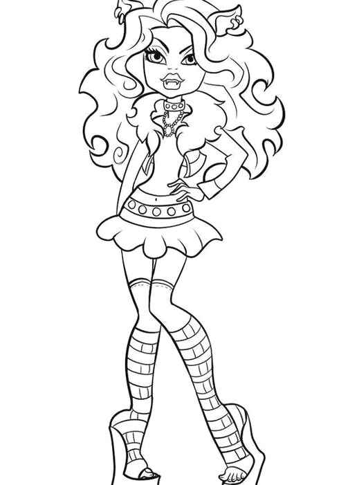 506x701 Monster High Clawdeen Coloring Pages