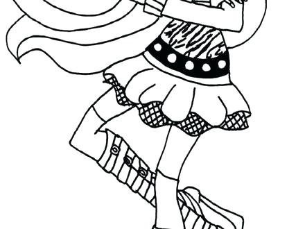 440x330 Monster High Clawdeen Coloring Pages Wolf Monster High Coloring