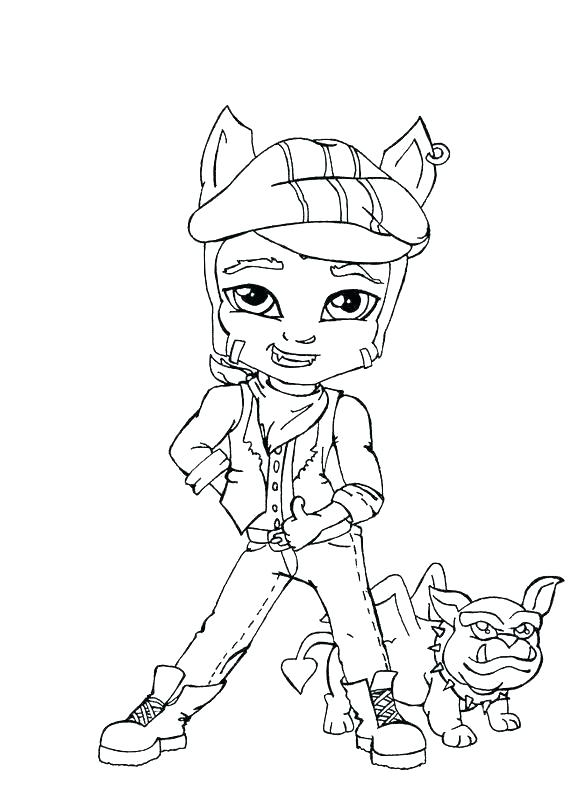 570x800 Monster High Coloring Pages Clawdeen Wolf Monster High Coloring