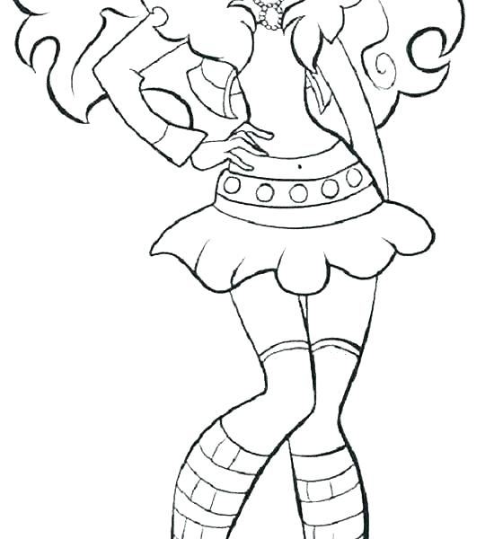 550x600 Monster High Coloring Pages Clawdeen Wolf Scaris Kids Coloring