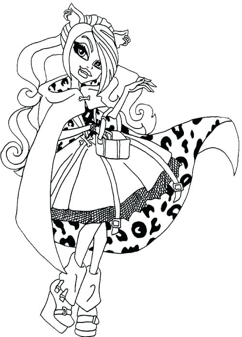 500x695 Clawdeen Wolf Coloring Pages