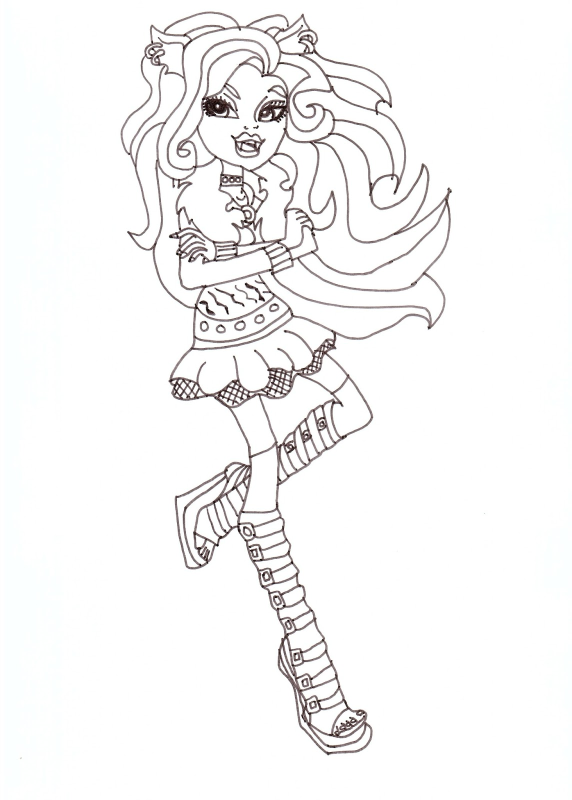1144x1600 Free Printable Monster High Coloring Pages Clawdeen Coloring Sheet