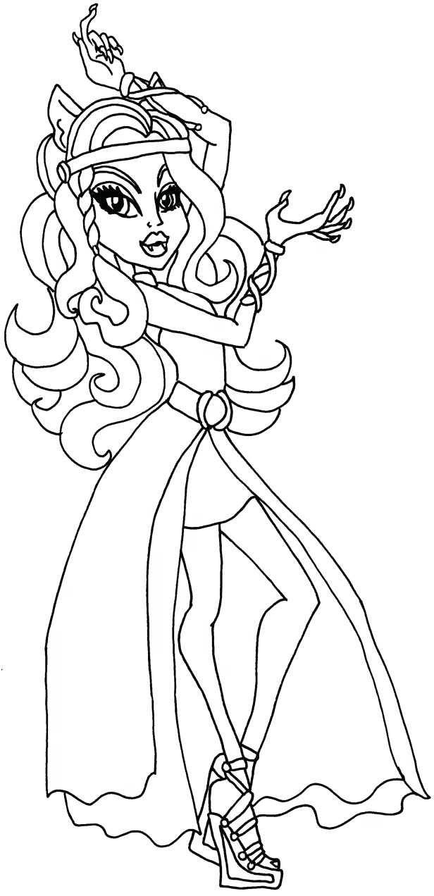 616x1272 Monster High Coloring Pages Clawdeen Wolf Monster High Coloring