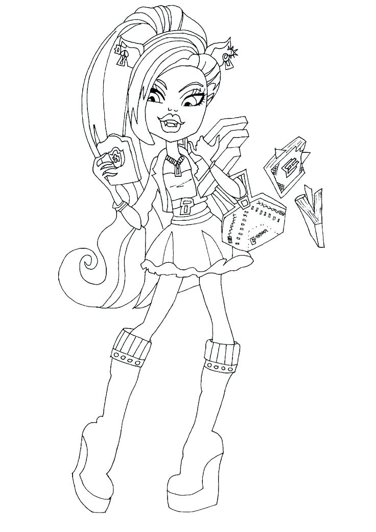 736x1041 Clawdeen Wolf Coloring Pages And Wolf Monster High Coloring Page