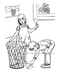 Clean Up Coloring Page