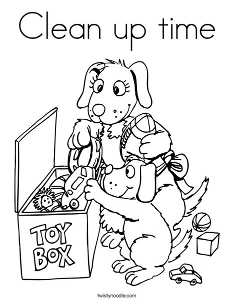 468x605 Clean Up Time Coloring Page