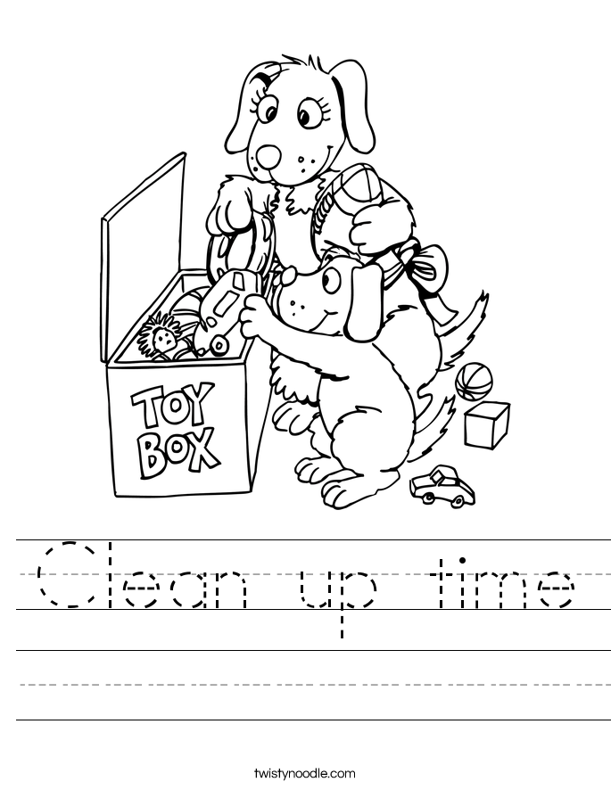 685x886 Clean Up Time Worksheet