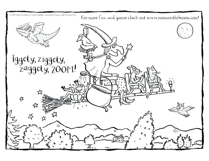 800x617 Room On The Broom Coloring Pages Birthday Cakes Elegant Cake