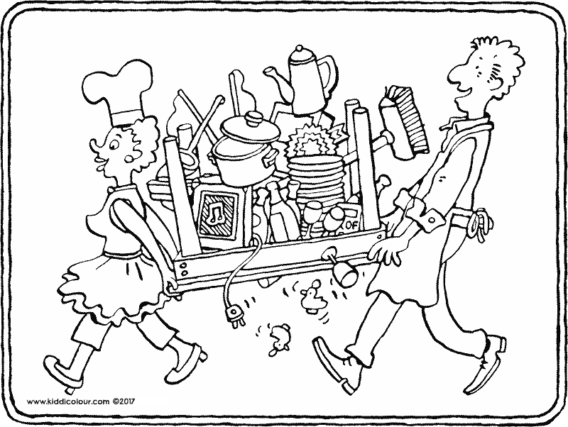 800x602 Objects Colouring Pages