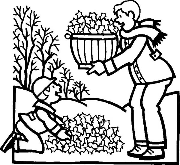 600x551 Clean Up Leaves In Autumn Coloring Page Color Luna