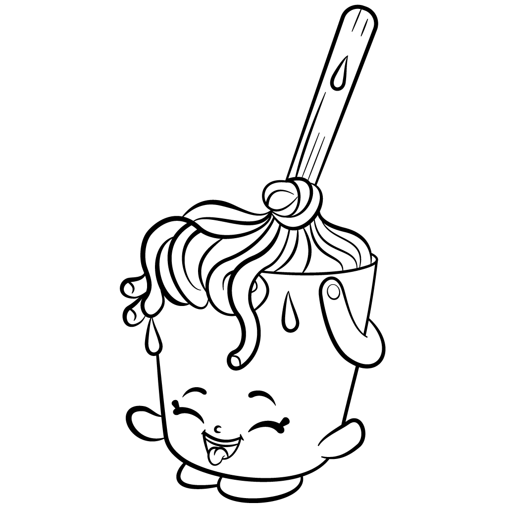 1024x1024 Cleaning Shopkins Molly Mops Coloring Page